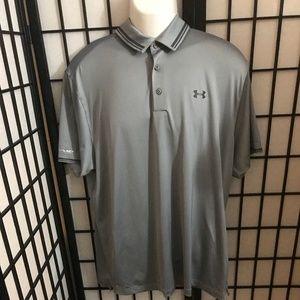 Men's Under Armour Gray Polo Size XL